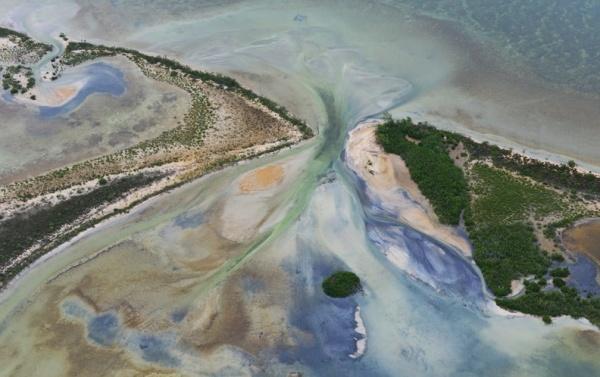 Vista aérea de la Reserva de la Biósfera de Sian Ka'an